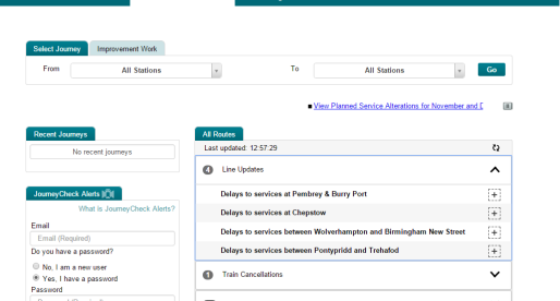 Arriva Trains Wales Launches Travel Update Service