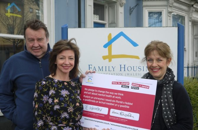 Family Housing Association Wales Signs Pledge To Support 'Time To Change Wales'